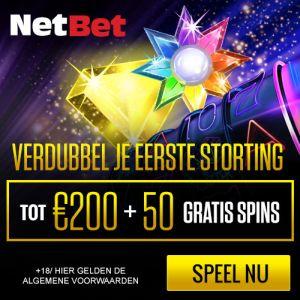 NetBet Casino 50 gratis spins Starburst