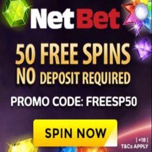 netbet 50 free spins code