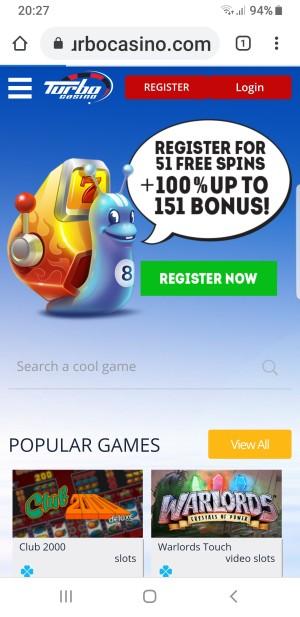 smartphone casino Turbo