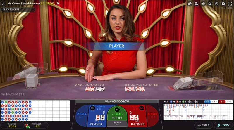 Live Baccarat Evolution Gaming
