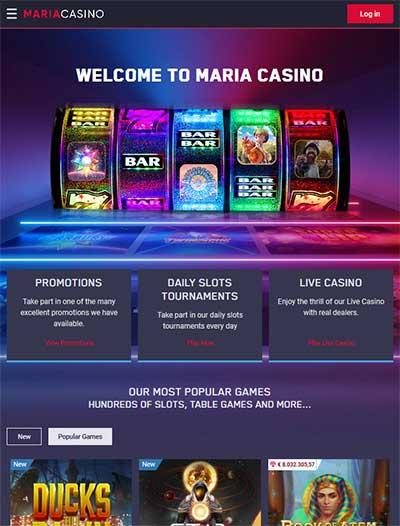 Maria Casino mobile